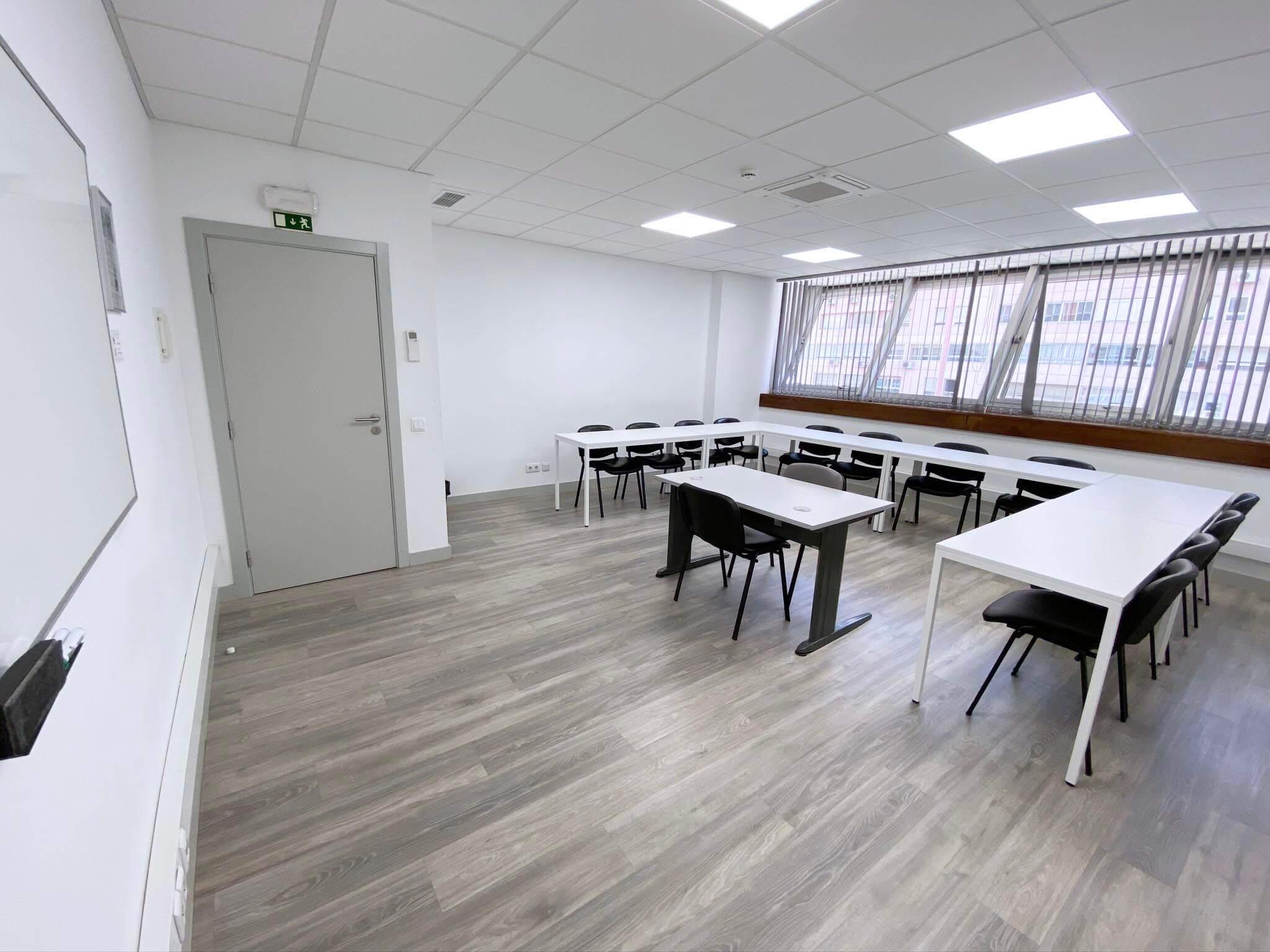 Sala de formação em Lisboa